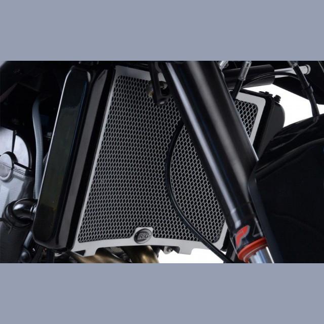R&G Kühlergitter Wasserkühler KTM Duke 790 für ohne original Plastik Bremsleitungsschutz